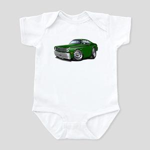 Duster Green-Black Car Infant Bodysuit