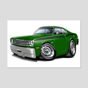 Duster Green-Black Car Mini Poster Print