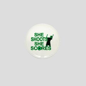 She Shoots ladies soccer Mini Button