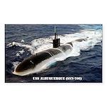 USS ALBUQUERQUE Sticker (Rectangle)