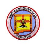 """USS ALBUQUERQUE 3.5"""" Button"""