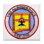 USS ALBUQUERQUE Tile Coaster