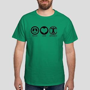 Peace Love Aerobics Dark T-Shirt