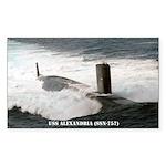 USS ALEXANDRIA Sticker (Rectangle)