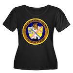 USS ALEXANDRIA Women's Plus Size Scoop Neck Dark T