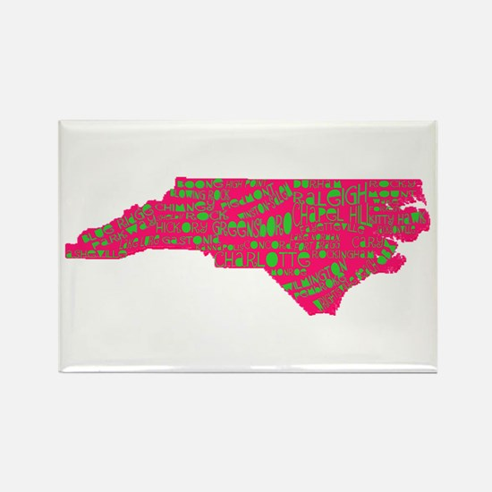 NC Cities Rectangle Magnet