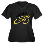 Lance for 8 Women's Plus Size V-Neck Dark T-Shirt