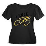 Lance for 8 Women's Plus Size Scoop Neck Dark T-Sh