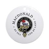 Family crest macdonald Round Ornaments