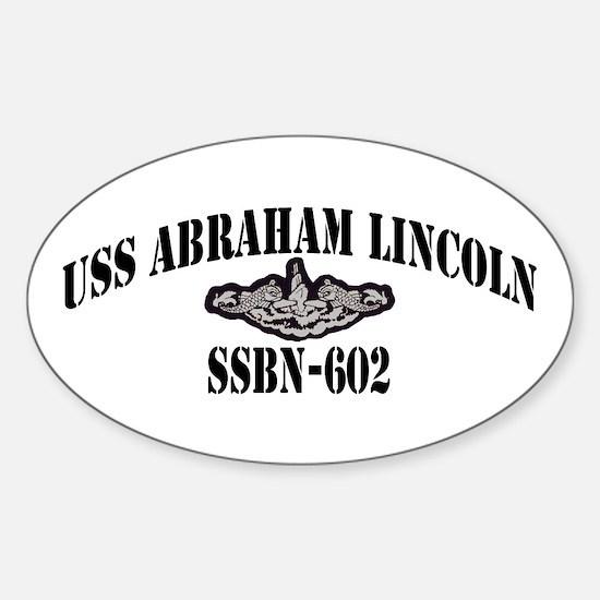 USS ABRAHAM LINCOLN Sticker (Oval)