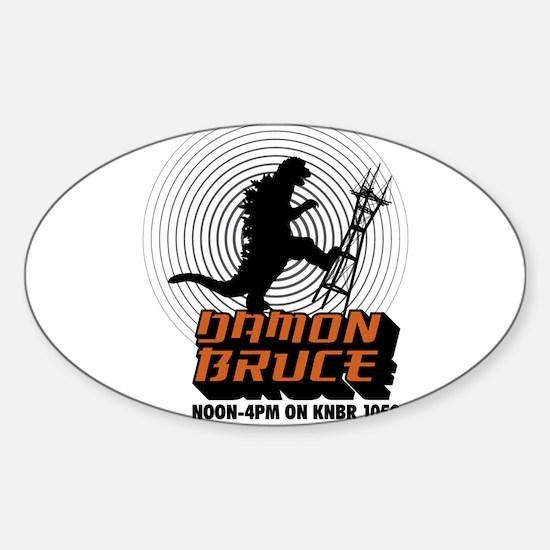 The Damon Bruce Show Sticker (Oval 10 pk)