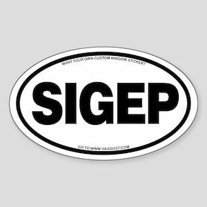 VEHICLE STICKER Sticker (Oval)