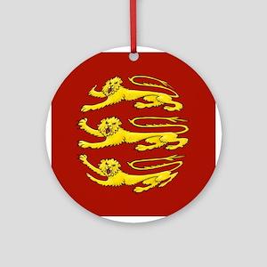 Plantagenet Lions Ornament (Round)