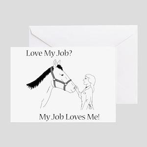 Love My Job Equine Greeting Card