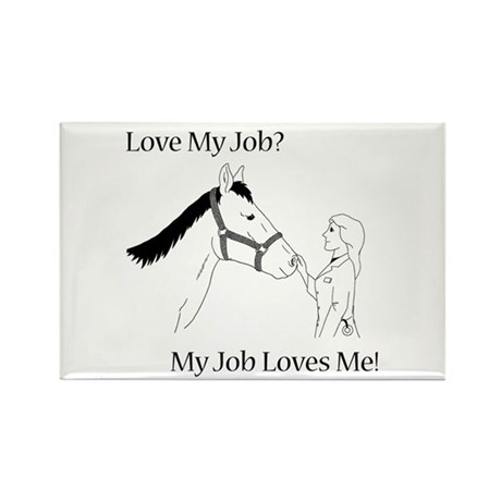 Love My Job Equine Rectangle Magnet (10 pack)
