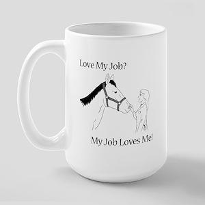 Love My Job Equine Large Mug