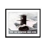 USS ARCHERFISH Framed Panel Print