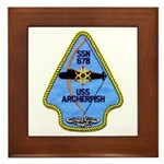 USS ARCHERFISH Framed Tile