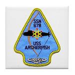 USS ARCHERFISH Tile Coaster