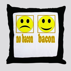 Hoo-Ray For Bacon Throw Pillow