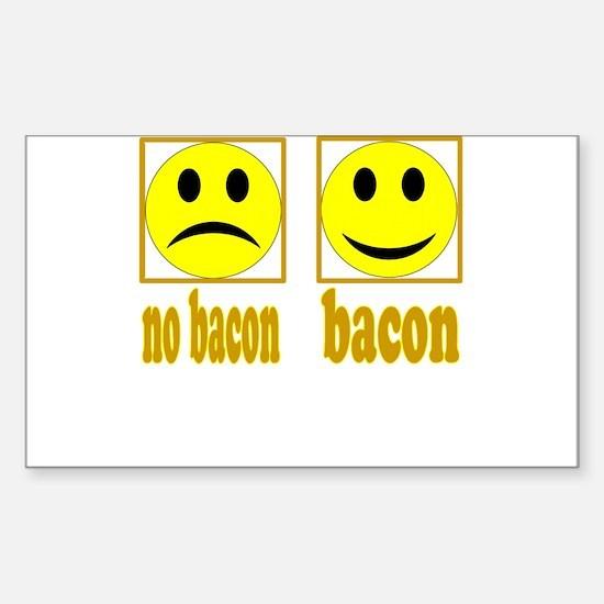 Hoo-Ray For Bacon Sticker (Rectangle)