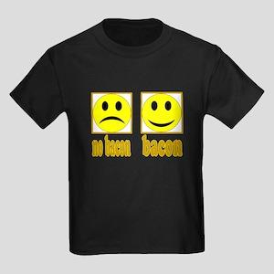 Hoo-Ray For Bacon Kids Dark T-Shirt