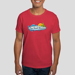 Pine Knoll Shores NC - Surf Design Dark T-Shirt