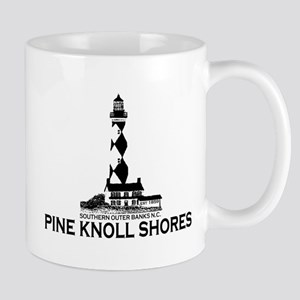 Pine Knoll Shores NC - Lighthouse Design Mug
