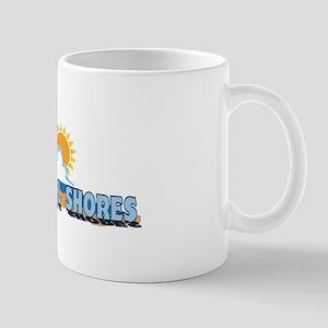 Pine Knoll Shores NC - Waves Design Mug