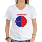Half The Battle Women's V-Neck T-Shirt
