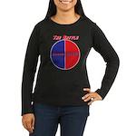 Half The Battle Women's Long Sleeve Dark T-Shirt