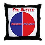 Half The Battle Throw Pillow