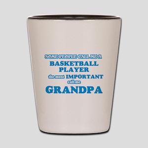 4dafab4fb935 Basketball Grandpa Shot Glasses - CafePress