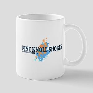 Pine Knoll Shores NC - Seashells Design Mug
