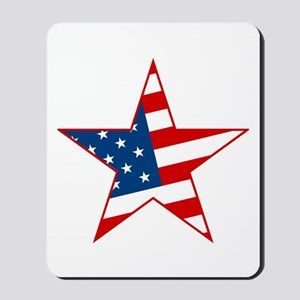 Flag Star Mousepad