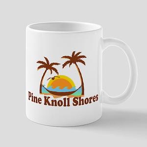 Pine Knoll Shores NC - Palm Trees Design Mug