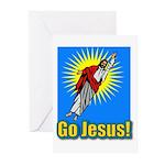 Go Jesus! Greeting Cards (Pk of 10)