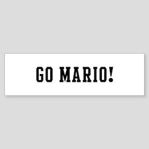 Go Mario Bumper Sticker