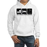 Eat, Sleep, Avoid Priests Hooded Sweatshirt