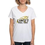 Lance's Final Tour Women's V-Neck T-Shirt