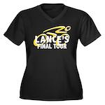 Lance's Final Tour Women's Plus Size V-Neck Dark T