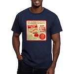 Climbing Cajones Men's Fitted T-Shirt (dark)