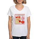 Climbing Cajones Women's V-Neck T-Shirt