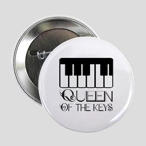 "Piano Queen Of Keys 2.25"" Button"