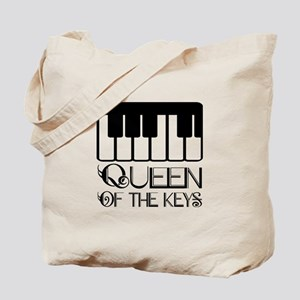Piano Queen Of Keys Tote Bag