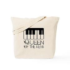Piano Queen Of Keys Tote Bag
