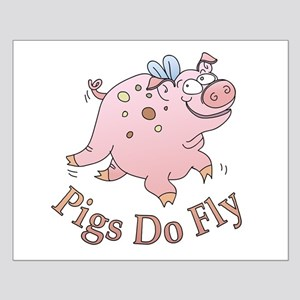 Pigs Do Fly Small Poster