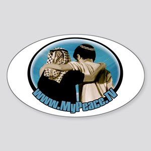 """Shalom Salaam"" Sticker (Oval)"