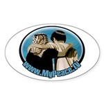 """Shalom Salaam"" Sticker (Oval)"