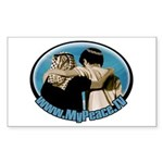 """Shalom Salaam"" Sticker (Rectangle)"